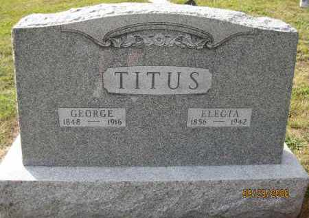 TITUS, GEORGE - Meigs County, Ohio | GEORGE TITUS - Ohio Gravestone Photos