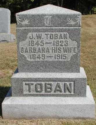 TOBAN, J. W. [JOHN WILLIAM] - Meigs County, Ohio | J. W. [JOHN WILLIAM] TOBAN - Ohio Gravestone Photos