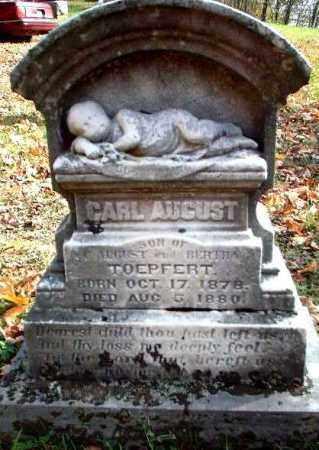 TOEPFERT, CARL AUGUST - Meigs County, Ohio | CARL AUGUST TOEPFERT - Ohio Gravestone Photos
