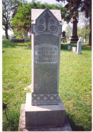 TOWNSEND, CYNTHIA - Meigs County, Ohio | CYNTHIA TOWNSEND - Ohio Gravestone Photos