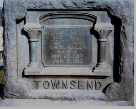 DAILEY TOWNSEND, ISABELL - Meigs County, Ohio | ISABELL DAILEY TOWNSEND - Ohio Gravestone Photos
