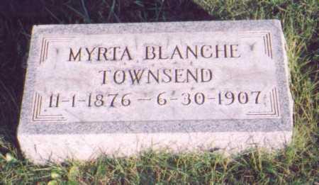 TOWNSEND, MYRTA BLANCHE - Meigs County, Ohio   MYRTA BLANCHE TOWNSEND - Ohio Gravestone Photos