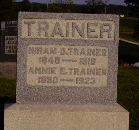 TRAINER, HIRAM D. - Meigs County, Ohio | HIRAM D. TRAINER - Ohio Gravestone Photos