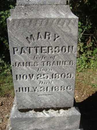 PATTERSON TRAINER, MARY - CLOSER VIEW - Meigs County, Ohio | MARY - CLOSER VIEW PATTERSON TRAINER - Ohio Gravestone Photos