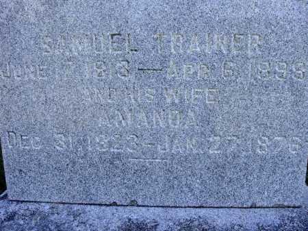 TRAINER, SAMUEL - CLOSER VIEW - Meigs County, Ohio | SAMUEL - CLOSER VIEW TRAINER - Ohio Gravestone Photos
