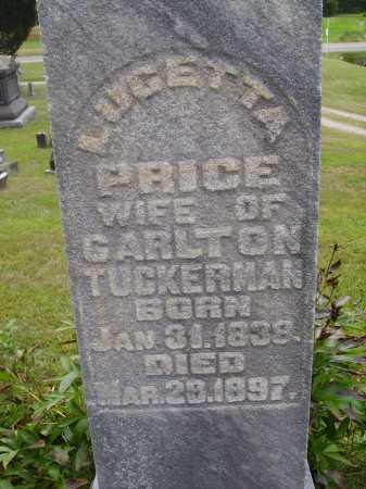PRICE TUCKERMAN, LUCETTA - Meigs County, Ohio | LUCETTA PRICE TUCKERMAN - Ohio Gravestone Photos