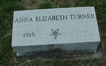 TURNER, ANNA ELIZABETH - Meigs County, Ohio | ANNA ELIZABETH TURNER - Ohio Gravestone Photos