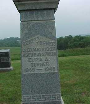 TURNER, ELIZA A. - Meigs County, Ohio   ELIZA A. TURNER - Ohio Gravestone Photos