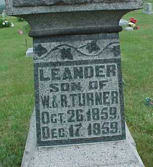 TURNER, LEANDER - Meigs County, Ohio | LEANDER TURNER - Ohio Gravestone Photos