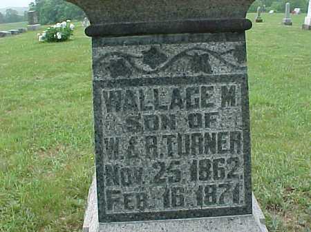 TURNER, WALLACE M. - Meigs County, Ohio   WALLACE M. TURNER - Ohio Gravestone Photos