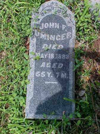 UMINGER, JOHN F. - Meigs County, Ohio | JOHN F. UMINGER - Ohio Gravestone Photos