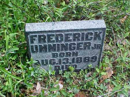 UMMINGER, FREDERICK, JR. - Meigs County, Ohio   FREDERICK, JR. UMMINGER - Ohio Gravestone Photos