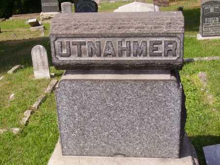 UTNAHMER, BACK OF STONE - Meigs County, Ohio | BACK OF STONE UTNAHMER - Ohio Gravestone Photos