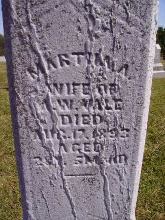 VALE, MARTHA A. - Meigs County, Ohio | MARTHA A. VALE - Ohio Gravestone Photos