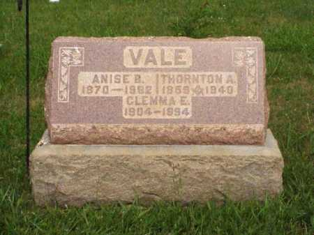 VALE, ANISE B. - Meigs County, Ohio | ANISE B. VALE - Ohio Gravestone Photos