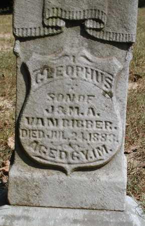 VANBIBBER, CLEOPHUS - Meigs County, Ohio | CLEOPHUS VANBIBBER - Ohio Gravestone Photos