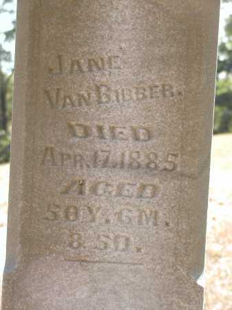 VANBIBBER, JANE - Meigs County, Ohio | JANE VANBIBBER - Ohio Gravestone Photos