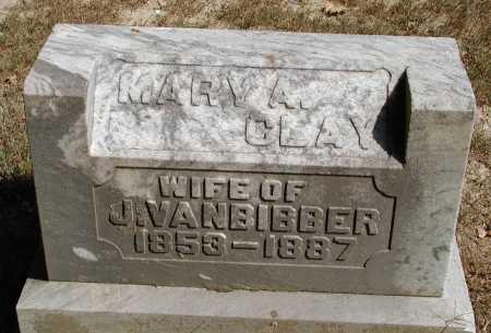 CLAY VANBIBBER, MARY A. - Meigs County, Ohio | MARY A. CLAY VANBIBBER - Ohio Gravestone Photos