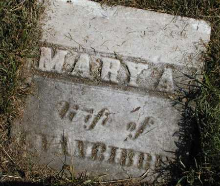 VANBIBBER, MARY A. [TOP OF STONE] - Meigs County, Ohio   MARY A. [TOP OF STONE] VANBIBBER - Ohio Gravestone Photos