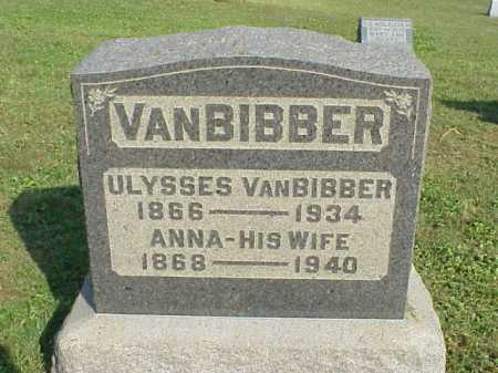 VANBIBBER, ANNA - Meigs County, Ohio | ANNA VANBIBBER - Ohio Gravestone Photos