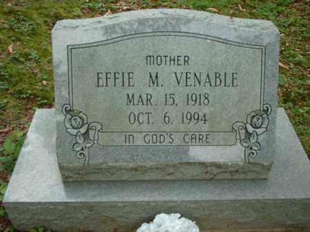 VENABLE, EFFIE M. - Meigs County, Ohio   EFFIE M. VENABLE - Ohio Gravestone Photos