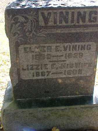 VINING, LIZZIE E. - Meigs County, Ohio | LIZZIE E. VINING - Ohio Gravestone Photos