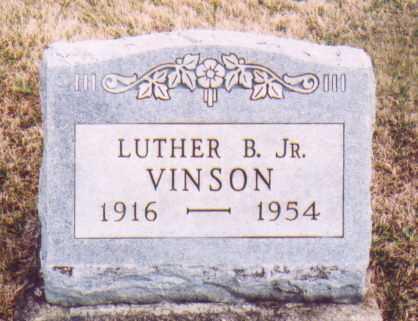 VINSON JR., LUTHER B. - Meigs County, Ohio | LUTHER B. VINSON JR. - Ohio Gravestone Photos