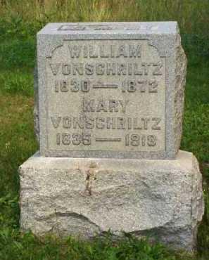 VONSHRILTZ, WILLIAM - Meigs County, Ohio | WILLIAM VONSHRILTZ - Ohio Gravestone Photos