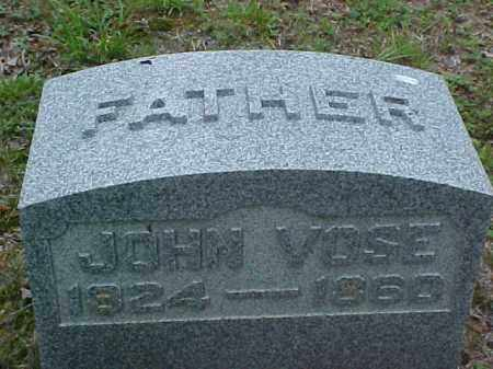 VOSE, JOHN - Meigs County, Ohio | JOHN VOSE - Ohio Gravestone Photos