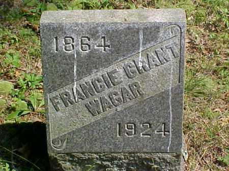 GRANT WAGAR, FRANCIE - Meigs County, Ohio | FRANCIE GRANT WAGAR - Ohio Gravestone Photos