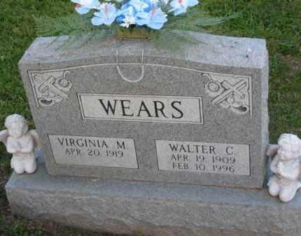 WEARS, VIRGINIA M. - Meigs County, Ohio   VIRGINIA M. WEARS - Ohio Gravestone Photos