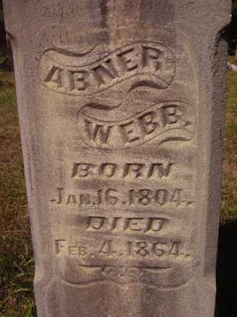 WEBB, ABNER - CLOSE VIEW - Meigs County, Ohio | ABNER - CLOSE VIEW WEBB - Ohio Gravestone Photos