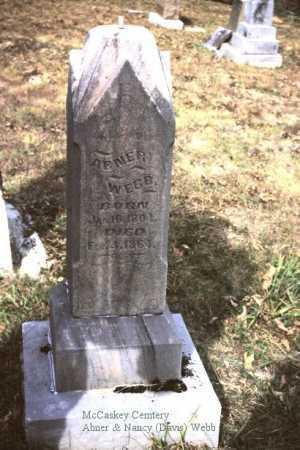 WEBB, ABNER - Meigs County, Ohio | ABNER WEBB - Ohio Gravestone Photos