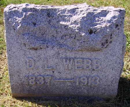 "WEBB, D. L. ""DAVID"" - Meigs County, Ohio | D. L. ""DAVID"" WEBB - Ohio Gravestone Photos"