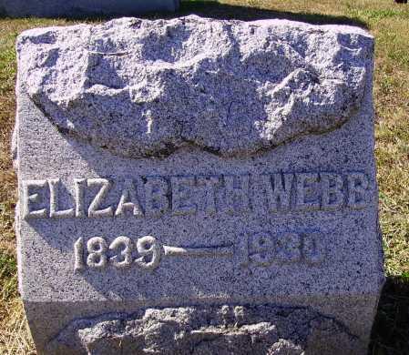 WEBB, ELIZABETH - Meigs County, Ohio | ELIZABETH WEBB - Ohio Gravestone Photos