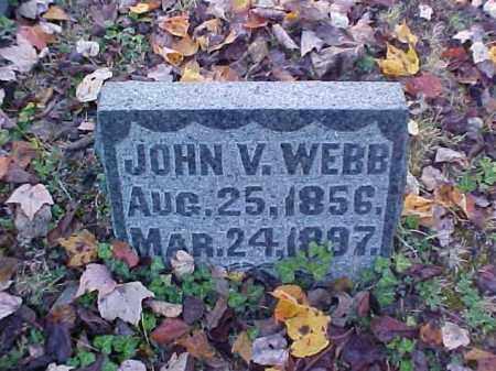 WEBB, JOHN V. - Meigs County, Ohio | JOHN V. WEBB - Ohio Gravestone Photos