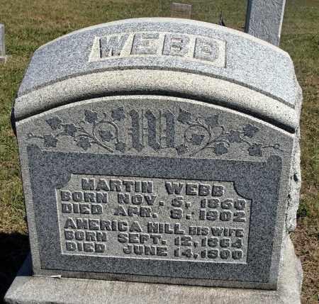 WEBB, AMERICA - Meigs County, Ohio | AMERICA WEBB - Ohio Gravestone Photos