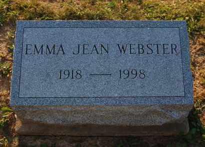 WEBSTER, EMMA JEAN - Meigs County, Ohio   EMMA JEAN WEBSTER - Ohio Gravestone Photos