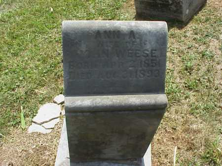WEESE, ANN A. - Meigs County, Ohio | ANN A. WEESE - Ohio Gravestone Photos