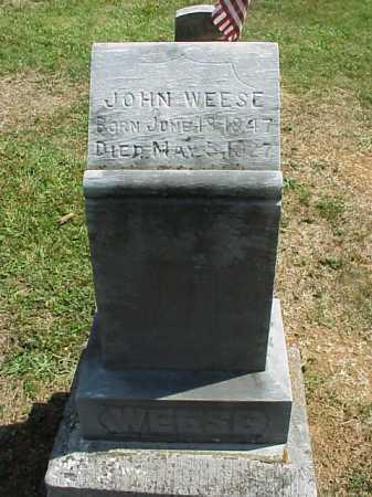 WEESE, JOHN - Meigs County, Ohio | JOHN WEESE - Ohio Gravestone Photos