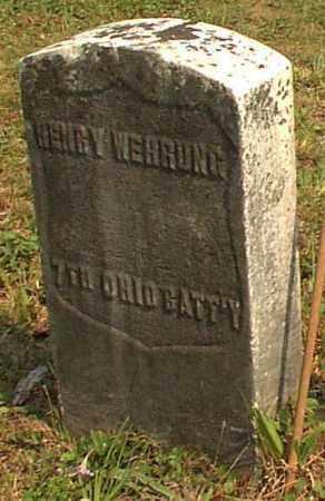 WEHRUNG, HENRY - Meigs County, Ohio   HENRY WEHRUNG - Ohio Gravestone Photos