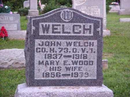 WOOD WELCH, MARY E. - Meigs County, Ohio | MARY E. WOOD WELCH - Ohio Gravestone Photos