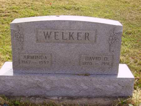 WELKER, DAVID OSBORN - Meigs County, Ohio | DAVID OSBORN WELKER - Ohio Gravestone Photos