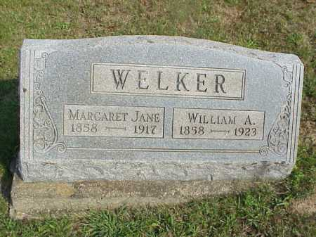 WELKER, WILLIAM ALONZO - Meigs County, Ohio   WILLIAM ALONZO WELKER - Ohio Gravestone Photos
