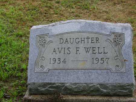 WELL, AVIS F. - Meigs County, Ohio   AVIS F. WELL - Ohio Gravestone Photos