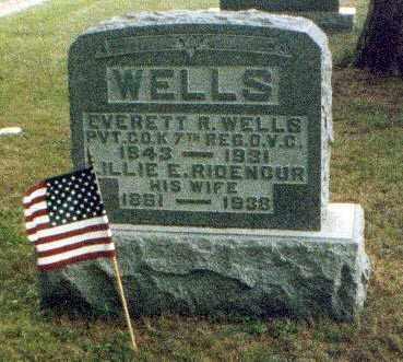 WELLS, EVERETT - Meigs County, Ohio | EVERETT WELLS - Ohio Gravestone Photos