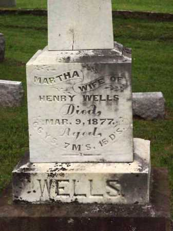 WELLS, MARTHA - Meigs County, Ohio | MARTHA WELLS - Ohio Gravestone Photos