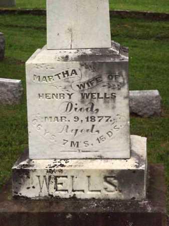 CARTER WELLS, MARTHA - Meigs County, Ohio | MARTHA CARTER WELLS - Ohio Gravestone Photos