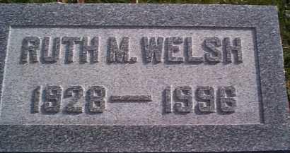 WELSH, RUTH M. - Meigs County, Ohio   RUTH M. WELSH - Ohio Gravestone Photos