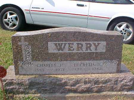 WERRY, CHARLES J. - Meigs County, Ohio | CHARLES J. WERRY - Ohio Gravestone Photos